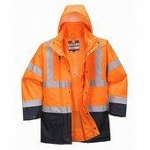 Essential 5 az 1-ben kabát narancs / tengerész