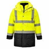 Jól láthatósági lélegző 5az1-ben kabát sárga / fekete