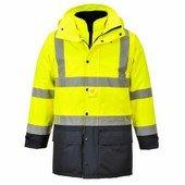 Jól láthatósági lélegző 5az1-ben kabát  sárga/Kék