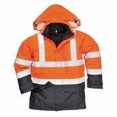 Hi-Visulti Protection antisztatikus és lángálló kabát narancs / tenger
