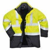 Hi-Visulti Protection antisztatikus és lángálló kabát sárga / tengerés