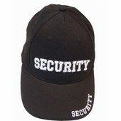 Biztonsági Őr Baseball sapka - Security sapka Fekete