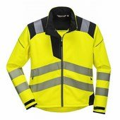 Vision Hi-Vis softshell kabát sárga / fekete
