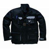 Texo kétszínű kabát fekete