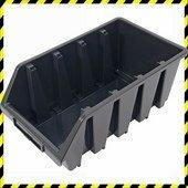 Tároló doboz, Ergobox; 4, nagy, 205×340×155mm, műanyag, fekete
