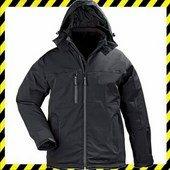 YANG Winter fekete télikabát, háromrétegű, lélegző és vízhatlan