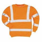 Jól láthatósági pulóver narancs