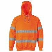Jól láthatósági, kapucnis pulóver narancs