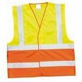 Kéttónusú láthatósági mellény sárga/narancs