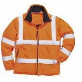 Jól láthatósági polár pulóver narancs