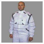 EDA fehér/szürke kabát pamut, mellényé alakítható Fehér/Szürke