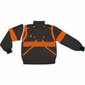 EDA fekete/narancs kabát pamut, mellényé alakítható Fekete/Naran