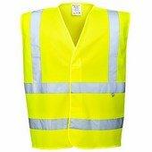 Jólláthatósági lángálló mellény EN14116 sárga