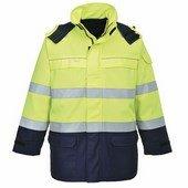 Bizflame Multi Arc láthatósági kabát  sárga/Kék