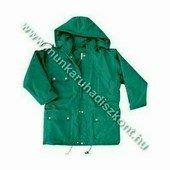 FLOPP zöld télikabát, vízhatlan kabát, kapucnis télikabát