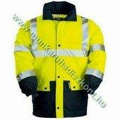 FLUO télikabát, sárga/kék - jólláthatósági kabát