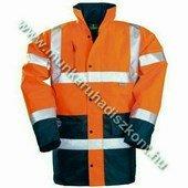 FLUO télikabát, narancs/kék - jólláthatósági kabát