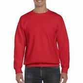Gildan ultra kevertszálas unisex kerek nyakú pulóver / Piros