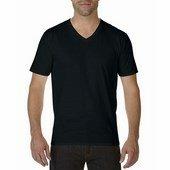 Gildan prémium pamut férfi v-nyakú póló   / Fekete
