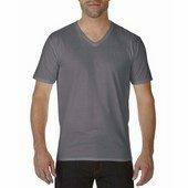 Gildan prémium pamut férfi v-nyakú póló   / Faszén