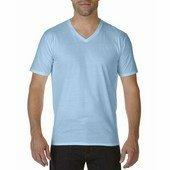 Gildan prémium pamut férfi v-nyakú póló   / Világos Kék
