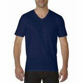 Gildan prémium pamut férfi v-nyakú póló   / Sötétkék