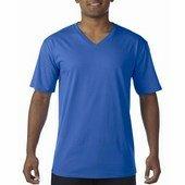 Gildan prémium pamut férfi v-nyakú póló   / Royal