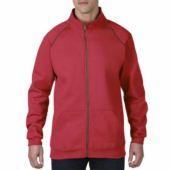 GILDAN PREMIUM PAMUT pulóver, cipzáras pulóver / Piros L,XXL Kifutó