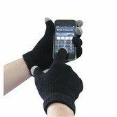 Touchscreen kötött kesztyű Fekete