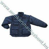 POLENA SLEEVE kék, levehető ujjakkal mellénnyé alakítható kabát