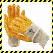 HARRIER sárga nitriles kesztyű