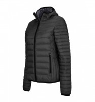Női LIGHTWEIGHT HOODED DOWN JACKET / Fekete