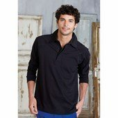 JAMES - PLAIN LONG SLEEVE RUGBY SHIRT /bl