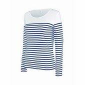 kariban női hosszú ujjú tengerész póló    / Csíkos Fehér