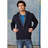 FULL ZIP HOODED FRENCH TERRY SWEATSHIRT /nv