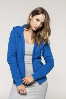 NŐI HOODED FULL ZIP SWEATSHIRT / fekete