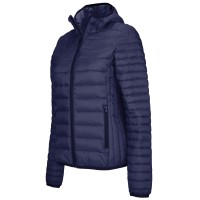 Női LIGHTWEIGHT HOODED DOWN JACKET / Navy