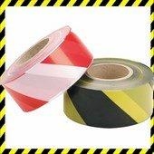 Figyelmeztető Jelzőszalag piros/fehér 500m!