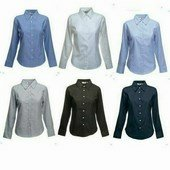 Fruit Lady-Fit Long Sleeve Oxford Shirt