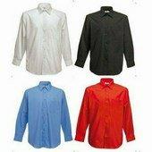 Fruit Long Sleeve Poplin Shirt férfi Hosszú ujjú ing