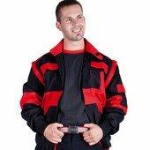 Max munkaruha kabát profiknak - fekete/piros