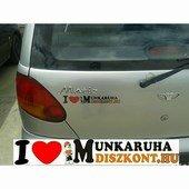 Gépkocsi matrica - I Love You munkaruhadiszkont.hu