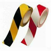 Öntapadós jelzőszalag, sárga/fekete 20m