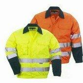 Patrol kabát sárga vagy narancs, rejtett gombolás, három zseb