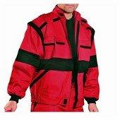 EDA piros/fekete kabát pamut, mellényé alakítható Piros/Fekete