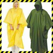 Poncsó oldalgombolással, univerzális méret, sárga, zöld