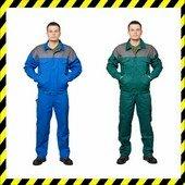 100% pamut munkaruha kabát - kék vagy zöld - 300gr