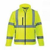 Jól láthatóságioftshell dzseki (3L) sárga