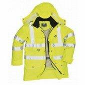 Jól láthatósági 7:1 Traffic kabát  sárga