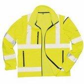 Jól láthatóságioftshell dzseki sárga